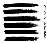 black ink vector brush strokes | Shutterstock .eps vector #223928065
