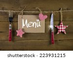 christmas menu card for... | Shutterstock . vector #223931215