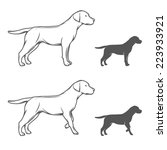 Illustration Of A Dog In...