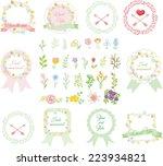 set of wedding graphic set ... | Shutterstock .eps vector #223934821