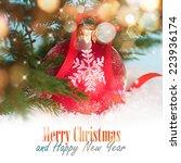 christmas decoration   Shutterstock . vector #223936174