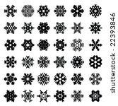 snowflake set | Shutterstock .eps vector #22393846