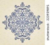 vector vintage pattern in... | Shutterstock .eps vector #223939891