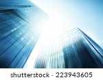 panoramic and perspective wide... | Shutterstock . vector #223943605