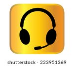 headphone for support or service | Shutterstock .eps vector #223951369