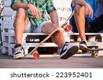 full length portrait of two... | Shutterstock . vector #223952401