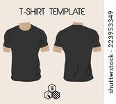 template of men t shirt