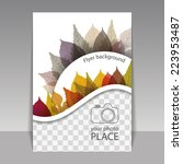 flyer or cover design with... | Shutterstock .eps vector #223953487