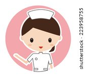 nurse icon | Shutterstock . vector #223958755