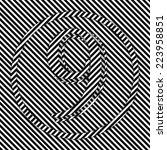 optical stripes number nine | Shutterstock . vector #223958851
