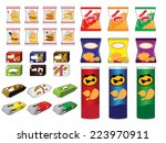 food snack   Shutterstock .eps vector #223970911