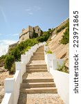 stairs up to fort of sao...   Shutterstock . vector #223971865