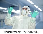 scientist in full protective... | Shutterstock . vector #223989787