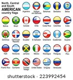 shiny web buttons with american ... | Shutterstock . vector #223992454
