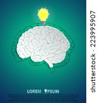 abstract brain paper design...   Shutterstock .eps vector #223995907