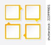 orange modern paper banners set ... | Shutterstock .eps vector #223999801