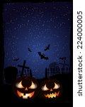 halloween background | Shutterstock .eps vector #224000005