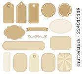 set of blank vintage frames.... | Shutterstock .eps vector #224015119