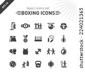 boxing icons set. | Shutterstock .eps vector #224021365