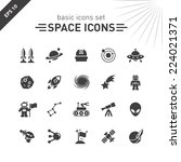 space icons set.