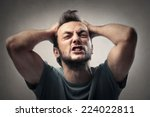 angry boy    Shutterstock . vector #224022811