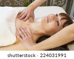 massage and facial peels at the ... | Shutterstock . vector #224031991