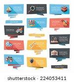 baby flat banner background set ... | Shutterstock .eps vector #224053411