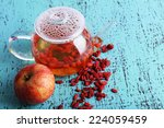 Goji Berries Drink In Glass...