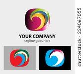 color swirl   | Shutterstock .eps vector #224067055
