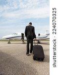 full length rear view of... | Shutterstock . vector #224070325