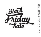 black friday calligraphic design | Shutterstock .eps vector #224071639