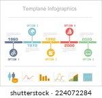 business timeline infographics... | Shutterstock .eps vector #224072284