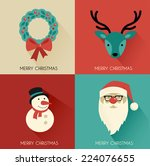 christmas background with... | Shutterstock .eps vector #224076655