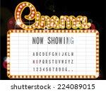 cinema sign | Shutterstock .eps vector #224089015