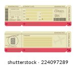 boarding pass design template | Shutterstock .eps vector #224097289