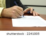 business man signing a contract | Shutterstock . vector #2241005