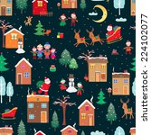 merry christmas | Shutterstock .eps vector #224102077