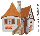 fairy tale cottage  ... | Shutterstock .eps vector #224103139