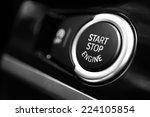 Detail On A Black Start Button...