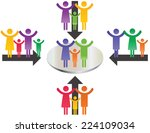 abstract and simple pictogram... | Shutterstock .eps vector #224109034