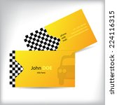 two sided taxi business card... | Shutterstock .eps vector #224116315