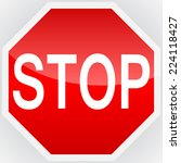 stop sign | Shutterstock .eps vector #224118427