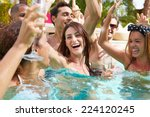 group of friends having party... | Shutterstock . vector #224120245