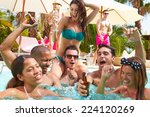 group of friends having party... | Shutterstock . vector #224120269