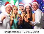 young people celebrating... | Shutterstock . vector #224122045