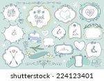 Colored Doodles Labels Badges...