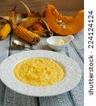 Corn Porridge With Pumpkin On...