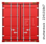 vector of cargo container for... | Shutterstock .eps vector #224131867