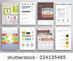 set of flyer  brochure design... | Shutterstock .eps vector #224135485