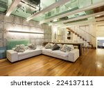 architecture  wide loft with... | Shutterstock . vector #224137111